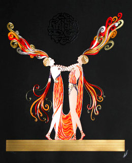 Kiss of Fire Limited Edition Print -  Erte