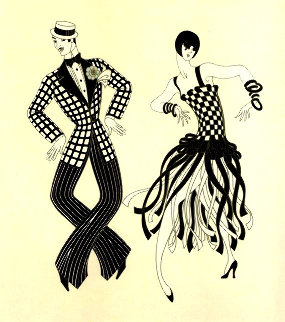 Charleston Couple 1980 Limited Edition Print -  Erte
