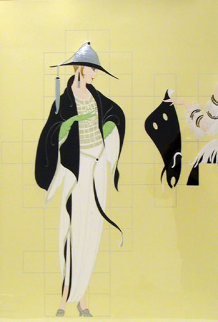 Haute Couture 1987 Limited Edition Print by  Erte