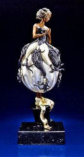 Tuxedo Bronze Sculpture 1999 21 in Sculpture -  Erte
