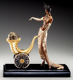Cornucopia Bronze Sculpture 1990 20 in Sculpture -  Erte