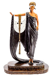 Sophisticated Lady Bronze Sculpture 1980 16 in Sculpture by  Erte