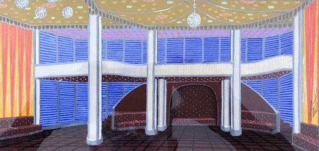 Decor Art Deco II 25x30 Original Painting by  Erte