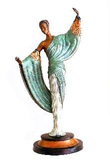 In the Evening Bronze Sculpture 1984 20 in Sculpture -  Erte