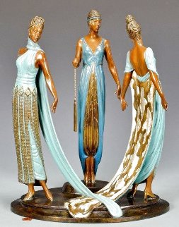 Three Graces Bronze Sculpture 1987 16 in Sculpture -  Erte