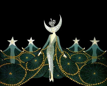 Queen of the Night 1987 Limited Edition Print -  Erte