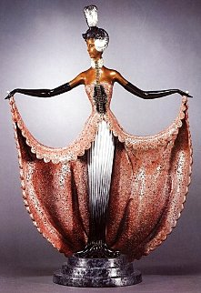 Cabaret Bronze Sculpture 1989 23 in Sculpture -  Erte