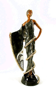 Chinchilla Sleeves Bronze Sculpture 1989 21 in Sculpture -  Erte
