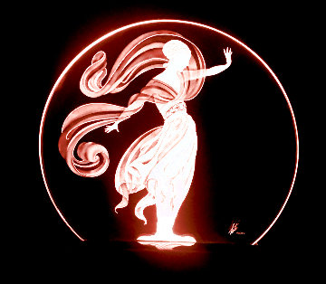 Flames of Love Glass Lumiere Sculpture 1984 18 in Sculpture -  Erte