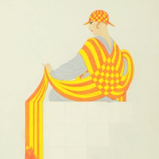 Symmetry in Yellow AP Limited Edition Print -  Erte