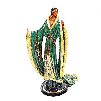 Femme De Luxe Bronze Sculpture 1990 22 in Sculpture -  Erte