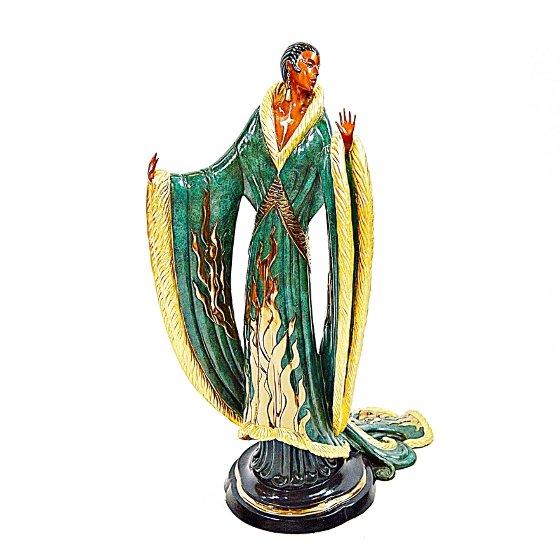 Femme De Luxe Bronze Sculpture 1990 22 in Sculpture by  Erte