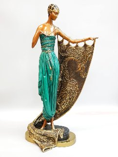 Emerald Night Bronze Sculpture 1988 22 in Sculpture -  Erte