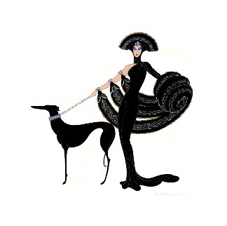 Symphony in Black AP 1983 Limited Edition Print -  Erte