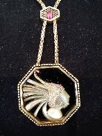 Fireflies Gold Pendant 2 in Jewelry by  Erte - 4