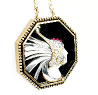 Fireflies Gold Pendant 2 in Jewelry by  Erte - 5