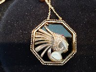 Fireflies Gold Pendant 2 in Jewelry by  Erte - 3