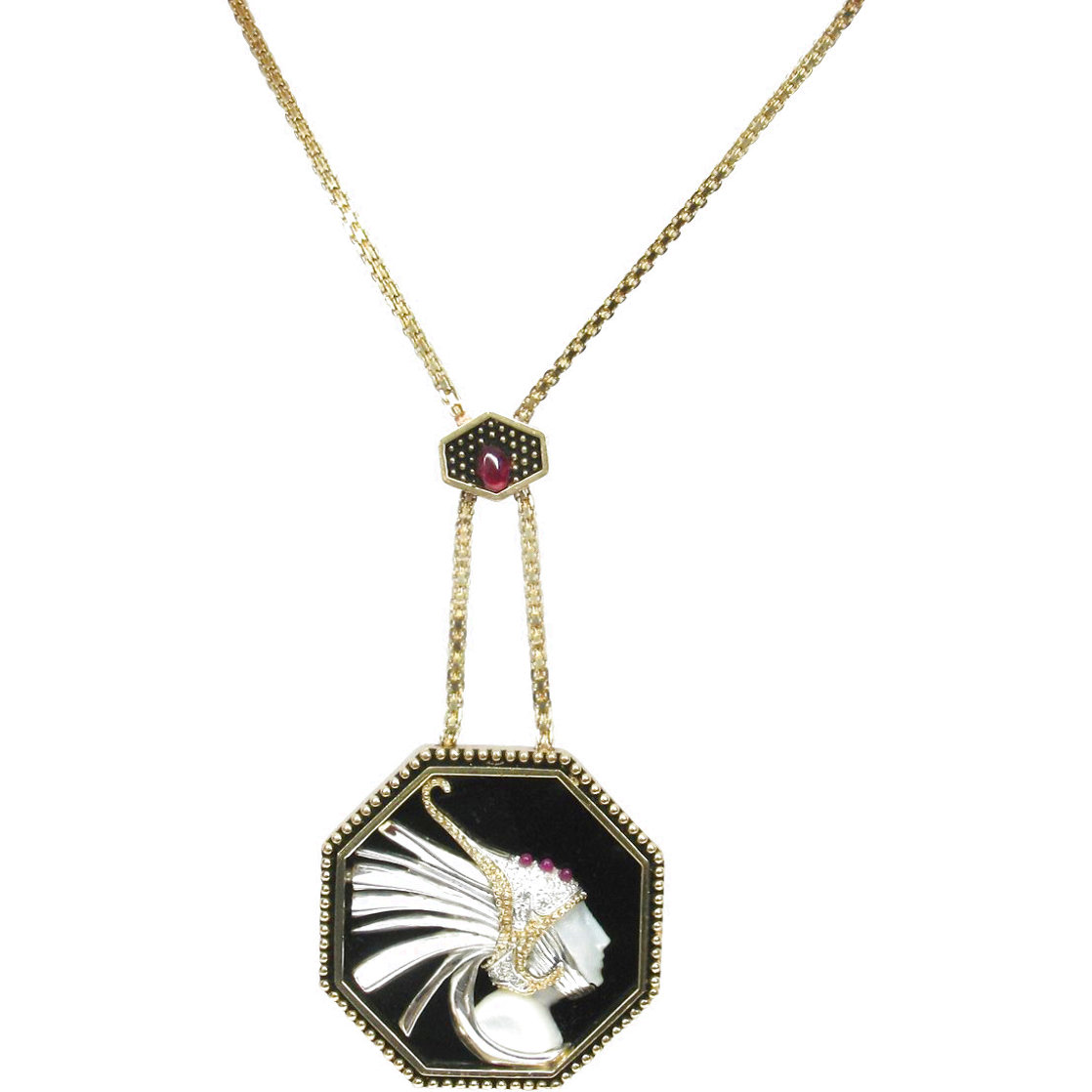 Fireflies Gold Pendant 2 in Jewelry by  Erte