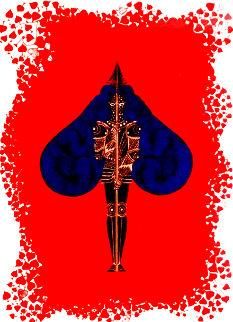 Aces Suite: Diamonds and Spades 1974 Limited Edition Print -  Erte