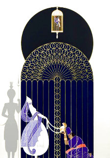 Bird in a Gilded Cage 1989 Limited Edition Print -  Erte