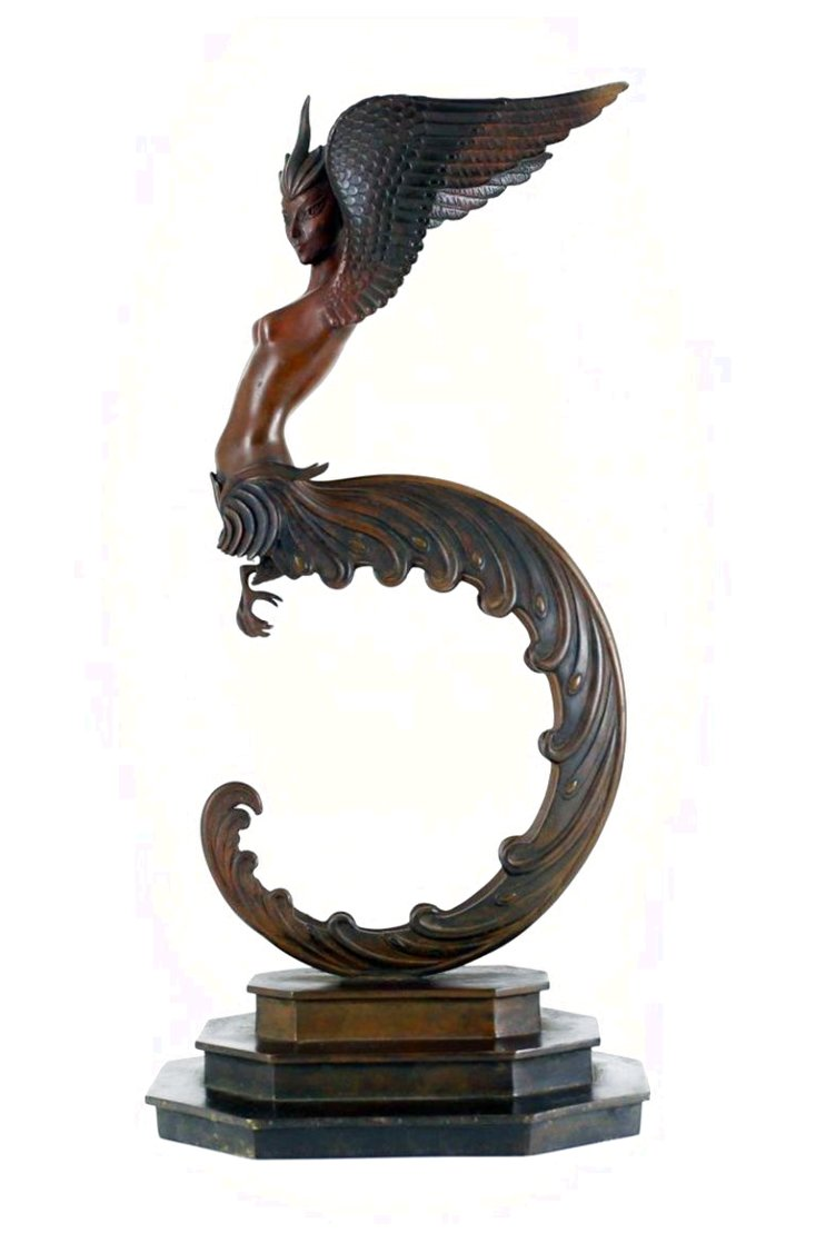 Firebird Bronze Sculpture 1981 16 in Sculpture by  Erte