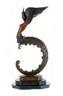 Firebird Bronze Sculpture 1981 16 in Sculpture by  Erte - 0