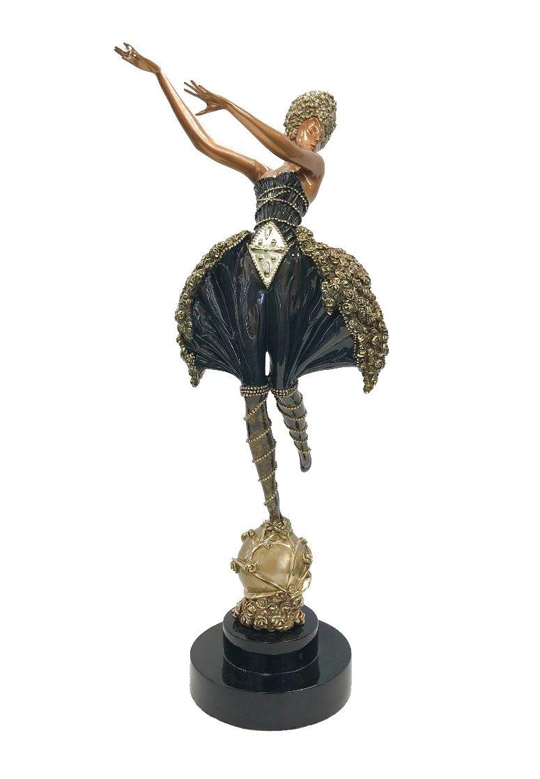 Rose Dancer Bronze Sculpture 1988 25 in Sculpture by  Erte