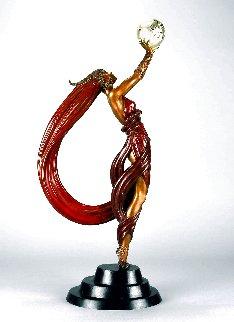 Globe Bronze Sculpture 1984 23 in Sculpture -  Erte