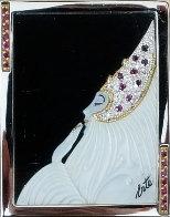 Beloved State V Gold Brooch 1981 Jewelry by  Erte - 0