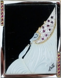 Beloved State V Gold Brooch 1981 Jewelry by  Erte