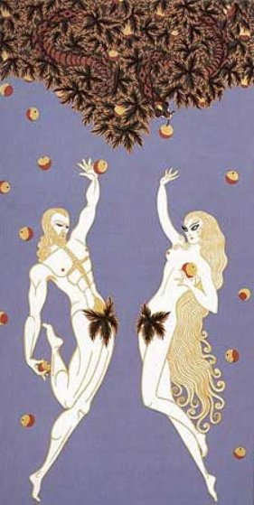 Adam and Eve 1982 Limited Edition Print by  Erte