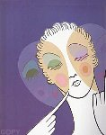 Three Faces 1974 Limited Edition Print -  Erte