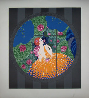Winter Flowers 1983 Limited Edition Print by  Erte