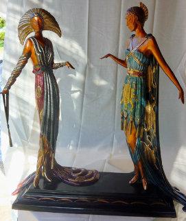 Two Vamps Bronze Sculpture AP 1990 19 in  Sculpture by  Erte