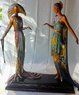 Two Vamps Bronze Sculpture AP 1990 19 in  Sculpture by  Erte