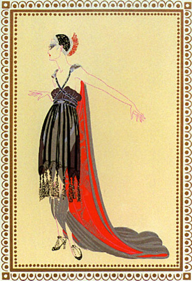 Seductress - Vamps Suite 1979 Limited Edition Print by  Erte