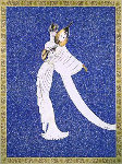 Tanagra Blue AP 1989 Limited Edition Print -  Erte