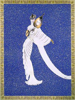 Tanagra Blue AP 1989 Limited Edition Print by  Erte
