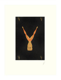 Letter Y - Alphabet Suite 1976 Limited Edition Print -  Erte