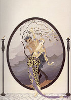 Woman and Satyr 1980 Limited Edition Print by  Erte - 0