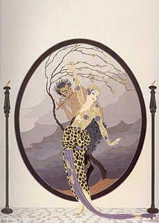 Woman and Satyr 1980 Limited Edition Print -  Erte
