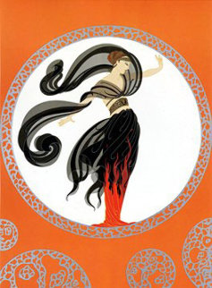 Flames of Love 1978 Limited Edition Print by  Erte