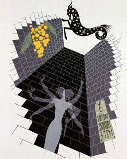 Zodiac Capricorn - 1982 Limited Edition Print by  Erte