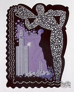 Zodiac - Aquaruis 1982 Limited Edition Print -  Erte