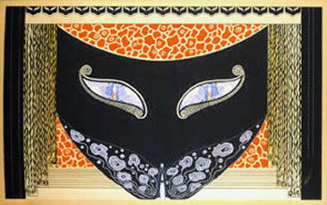 Eyes of Jealousy 1983 Limited Edition Print -  Erte