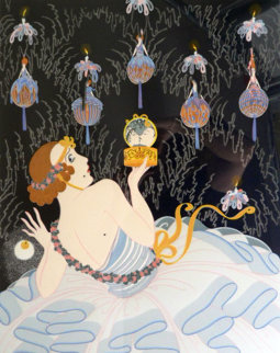 Stolen Kisses 1982 Limited Edition Print -  Erte