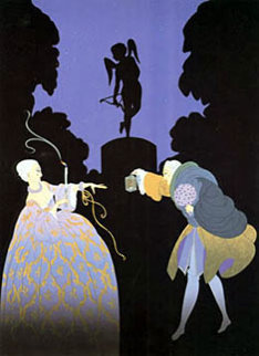 Rendezvous 1981 Limited Edition Print by  Erte