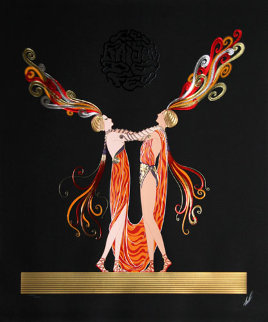 Kiss Of Fire 1983 Limited Edition Print -  Erte