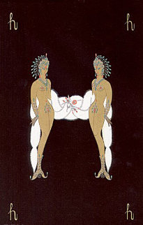 Letter H - Alphabet Suite 1976 Limited Edition Print by  Erte