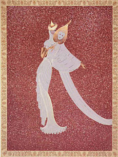 Tanagra Red 1989 Limited Edition Print by  Erte